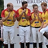 Prince Harry Gets Adorably Animated During a Charity Polo Match With Prince William