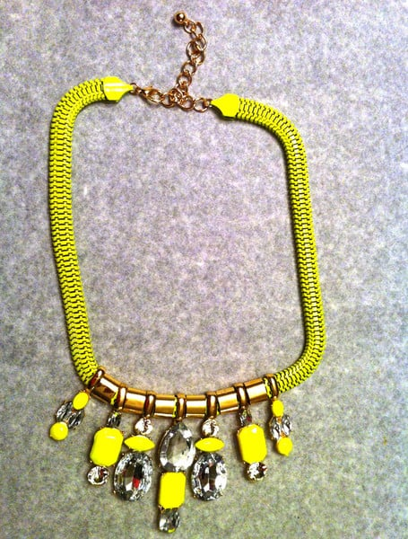 """""""I've been wearing this necklace with everything, from a slouchy gray sweatshirt to an LBD to a plain white tee. It brings the perfect pop of color to my look, and it's so affordable that I'm planning to snap up another one to layer with."""" — Brittney Stephens, assistant editor  The Oxford Trunk Color Me Necklace ($22)"""