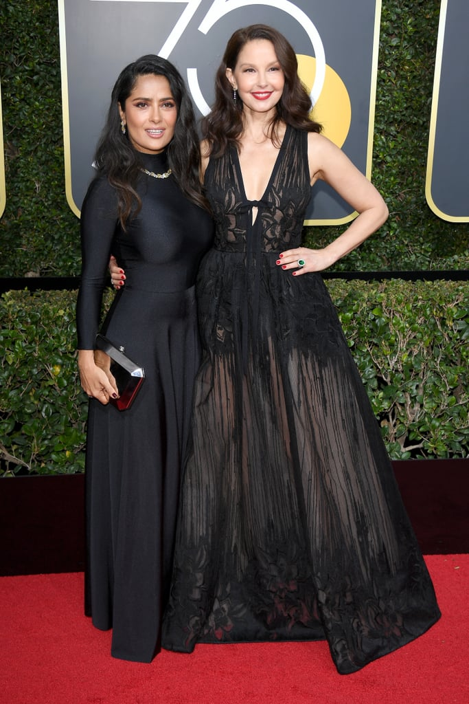 Salma Hayek and Ashley Judd at the Golden Globes 2018