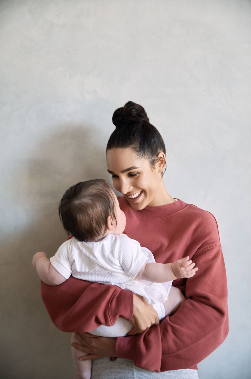 Kayla Itsines and daughter Arna