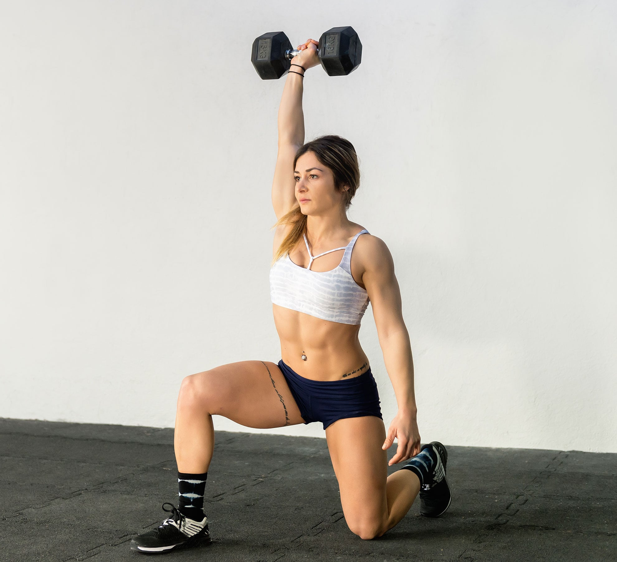 Image result for Dumbbell Overhead Lunge