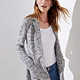 Loft Textured Knit Patch Pocket Blazer