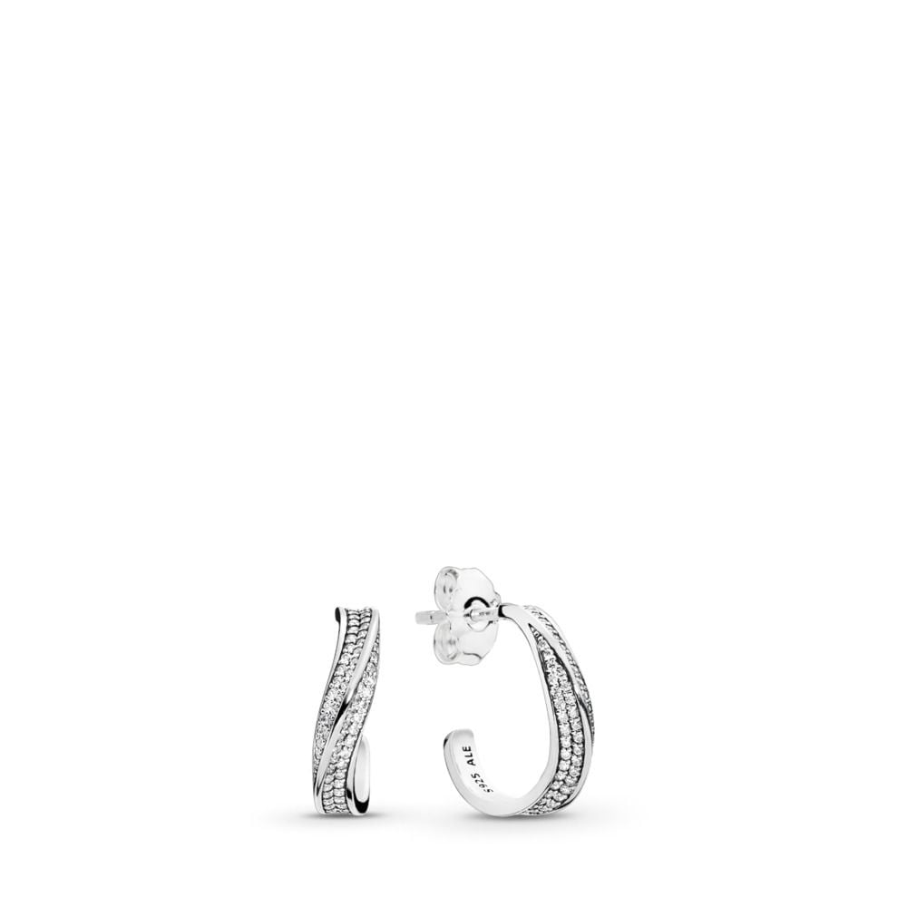 Pandora Elegant Waves Hoop Earrings