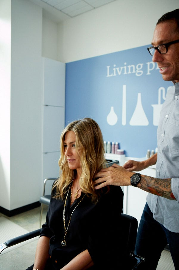 Jennifer Aniston Flashes Her Ring While Promoting Her New Hair Care Line