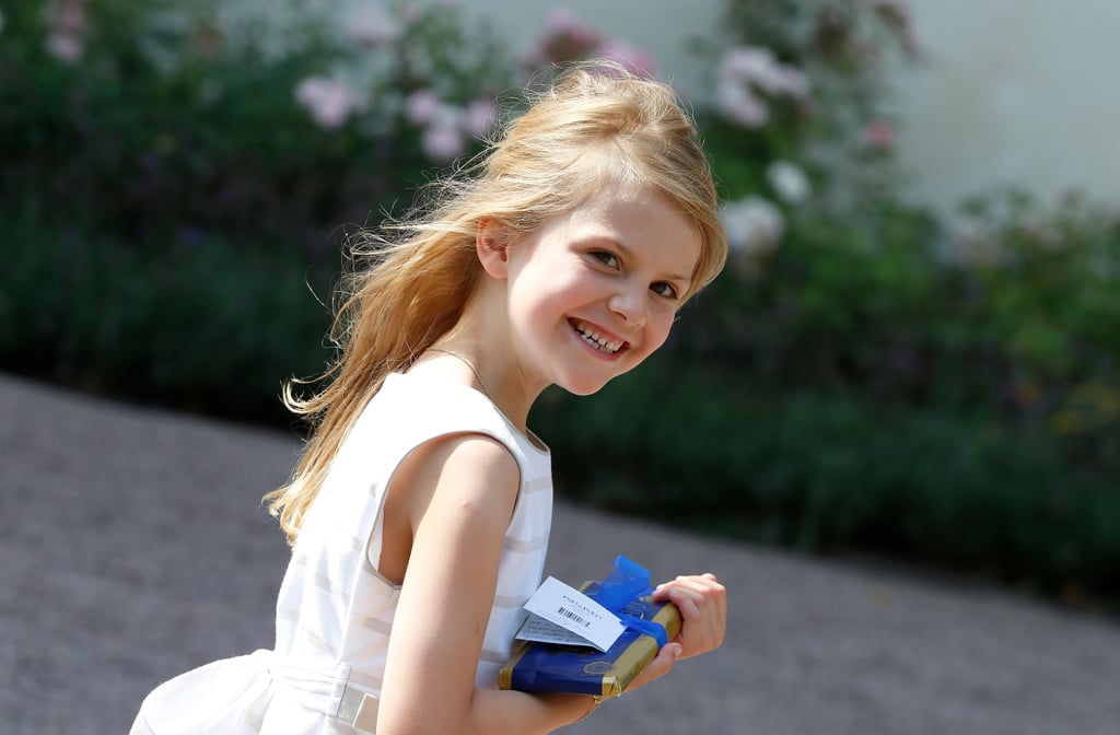 Princess Estelle Sports Long Blond Locks at Crown Princess Victoria's Birthday Party
