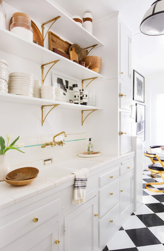 9 Ways to Get Trendy Gold Bracket Shelves on a Budget
