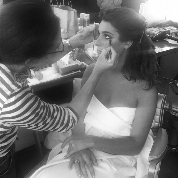 She sat pretty in the hair and makeup chair while getting dolled up for an event in September 2012. Source: Instagram user msleamichele