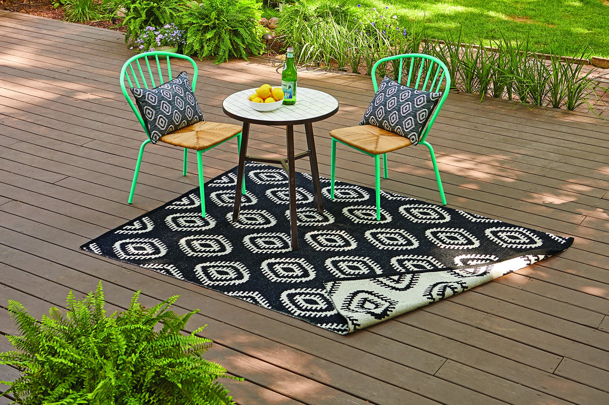 Better Homes And Gardens Outdoor Diamond Wandering Ikat Rug The