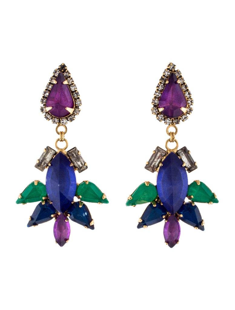 These Erickson Beamon Multicolored Crystal Chandelier Earrings 125 Bring The Right Kind Of Drama