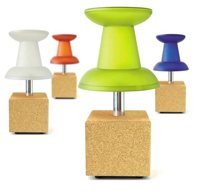 Push-pin Night Stand And Lamp