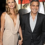 George Clooney and Stacy Keibler were a united front at the LA premiere of The Descendants.