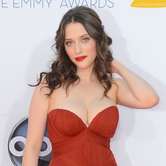 Picture of Kat Dennings's Hair and Makeup at the 2012 Emmy Awards
