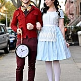 White Rabbit and Alice in Wonderland