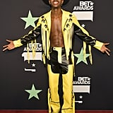 For the 2019 BET Awards, Lil Nas X wore this black and yellow fringe that was as cool as it gets.