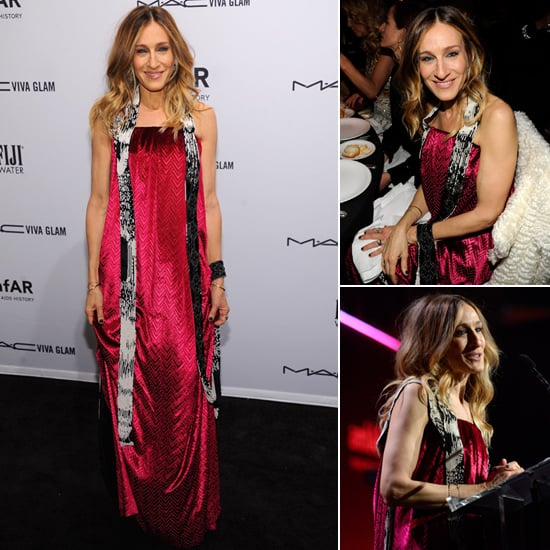 Sarah Jessica Parker Steps Out in Hot Pink to Honor a Friend For amfAR