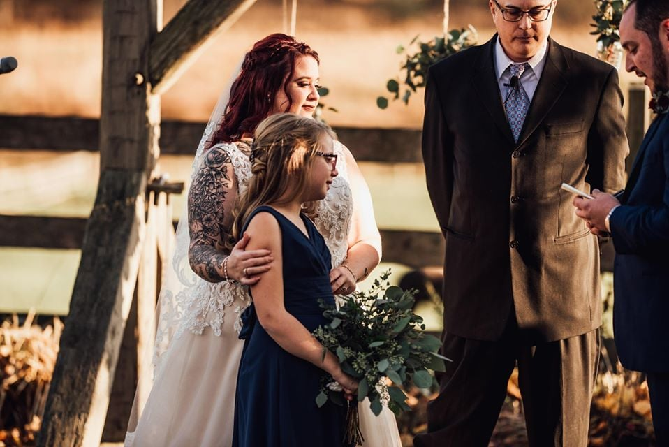 Man Says Emotional Vows to New Stepdaughter   Photos