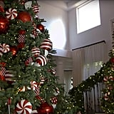 She kept her theme consistent with her multiple Christmas trees in 2016.