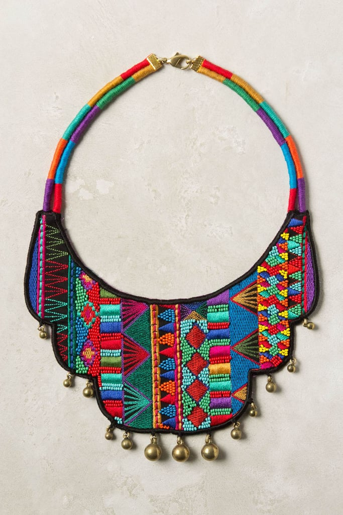 We absolutely love this bright tribal-inspired collar necklace. Sure, it's a bit on the wild side, but juxtaposed against a semisheer white maxi dress? You have yourself a solid Summer number. Anthropologie Atafu Necklace ($68)