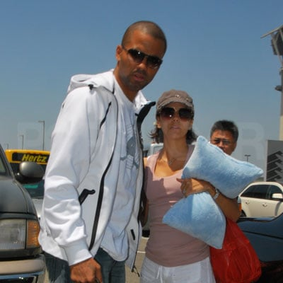 Eva Longoria and Tony Parker at LAX