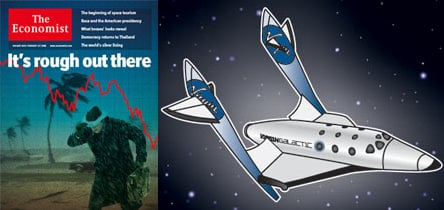 On the Newsstand: Virgin Voyage . . . in Space