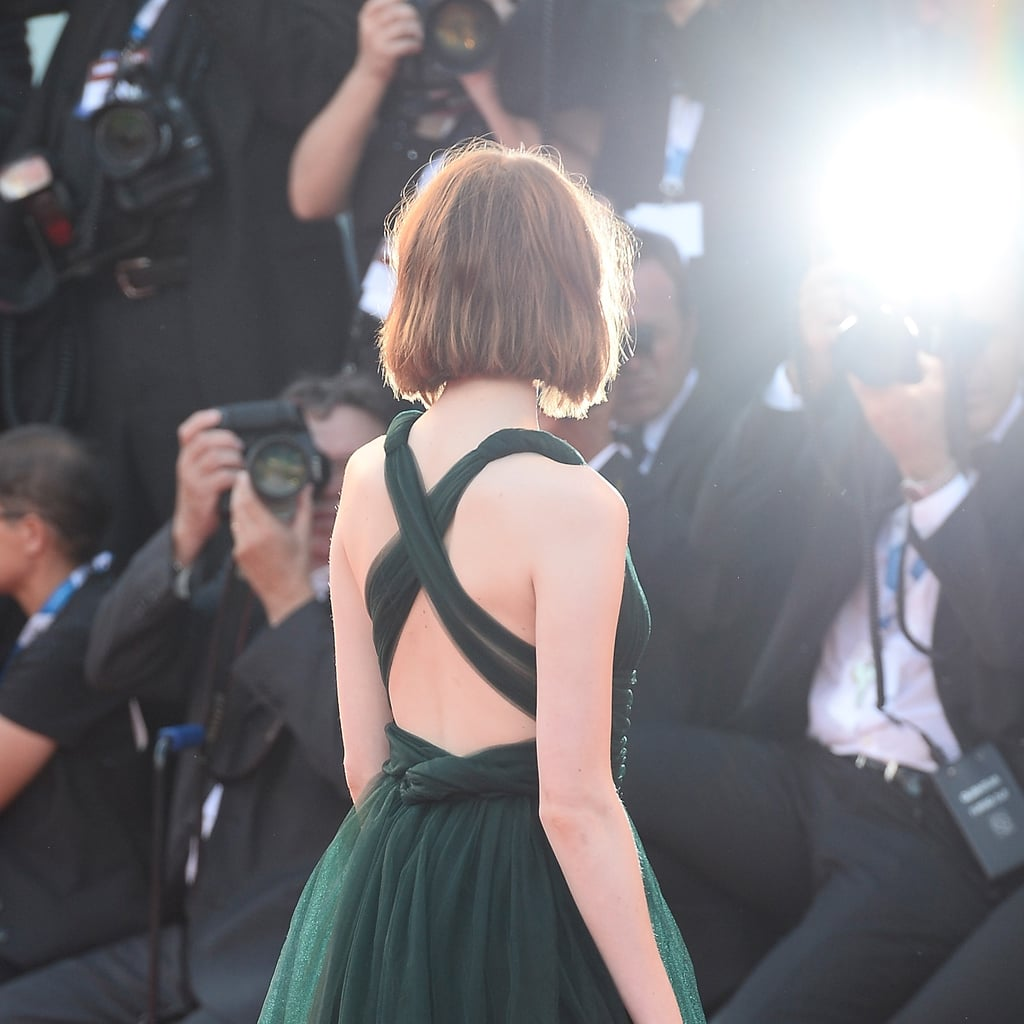 Emma Stone's Lob From the Back