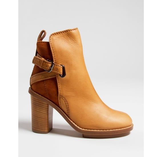 A Stacked Tan Boot