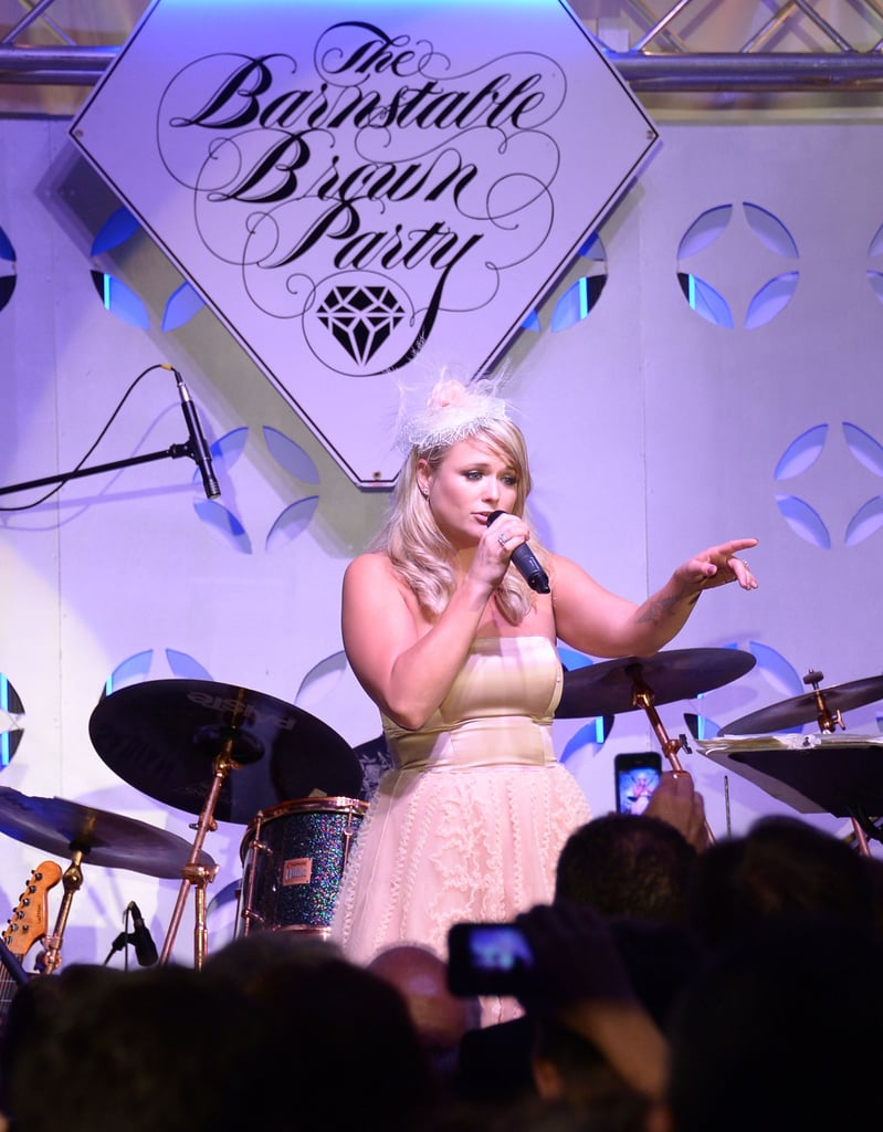 Miranda Lambert spoke to the crowd at the Barnstable Brown Gala on Friday.