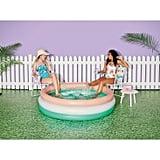 Tropical Palm Leaf Pool