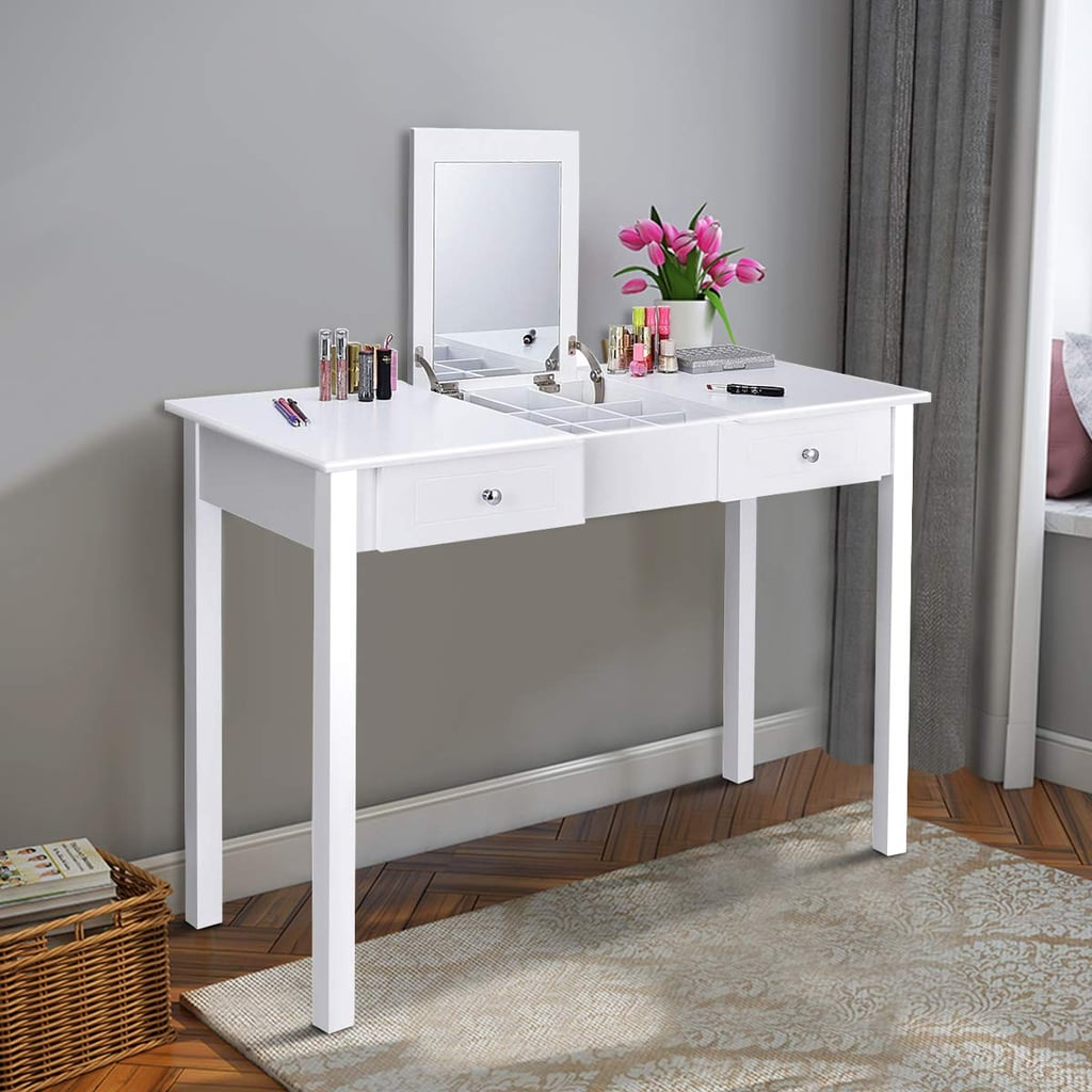 Picture of: Giantex Vanity Dressing Table With Flip Makeup Mirror Best Multifunctional Furniture For Small Spaces Popsugar Home Australia Photo 4