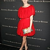 In red Giambattista Valli in '07, and always interesting accessories.