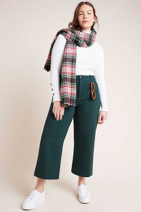 Anthropologie Courtney Cropped Wide-Leg Pants