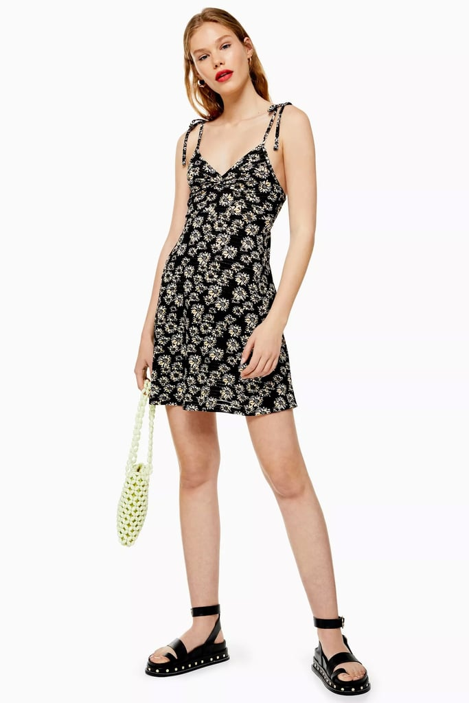 Topshop Ditsy Twist Front Dress