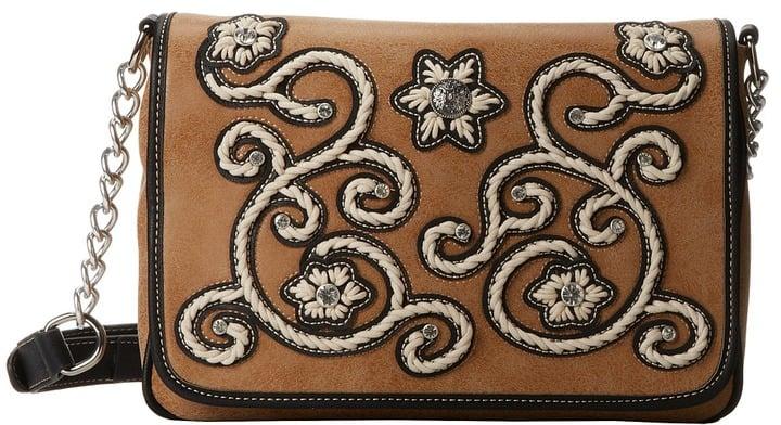 M&F Western Floral Stitch Medium Flap Shoulder Bag ($69)
