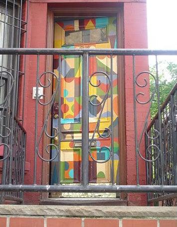 Cool Idea: A Mural-Coated Front Door