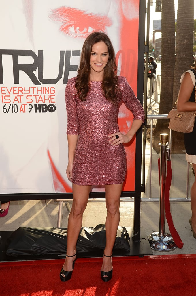 Kelly Overton looked pretty in pink at the premiere in Hollywood.