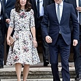 For Day 2, the Duchess of Cambridge Switched Into a Floral Set