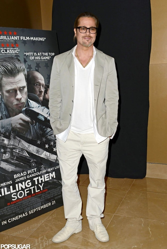 Brad Pitt was in attendance at a screening of Killing Them Softly in London.