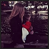 Hilary Duff and Luca Comrie took in the water show at The Grove. Source: Instagram user hilaryduff