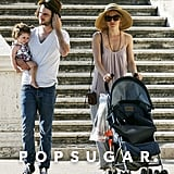 Sienna Miller and Tom Sturridge took their daughter, Marlowe, for a stroll around Rome.