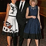 Anna Wintour snapped a picture with Colin Firth and his wife, Livia, who hosted the event along with the Vogue editor.
