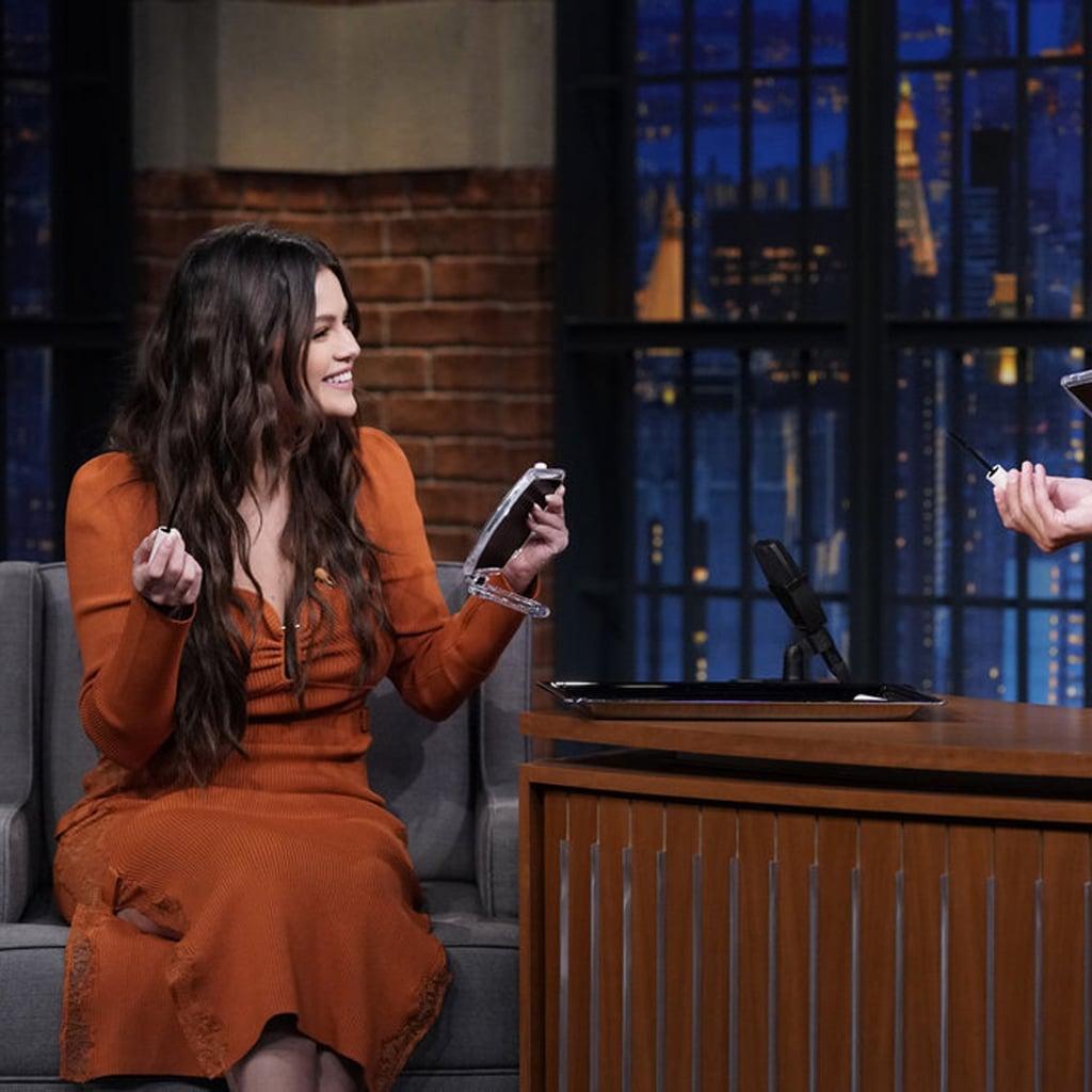 Watch Selena Gomez Teach Seth Meyers to Apply Mascara