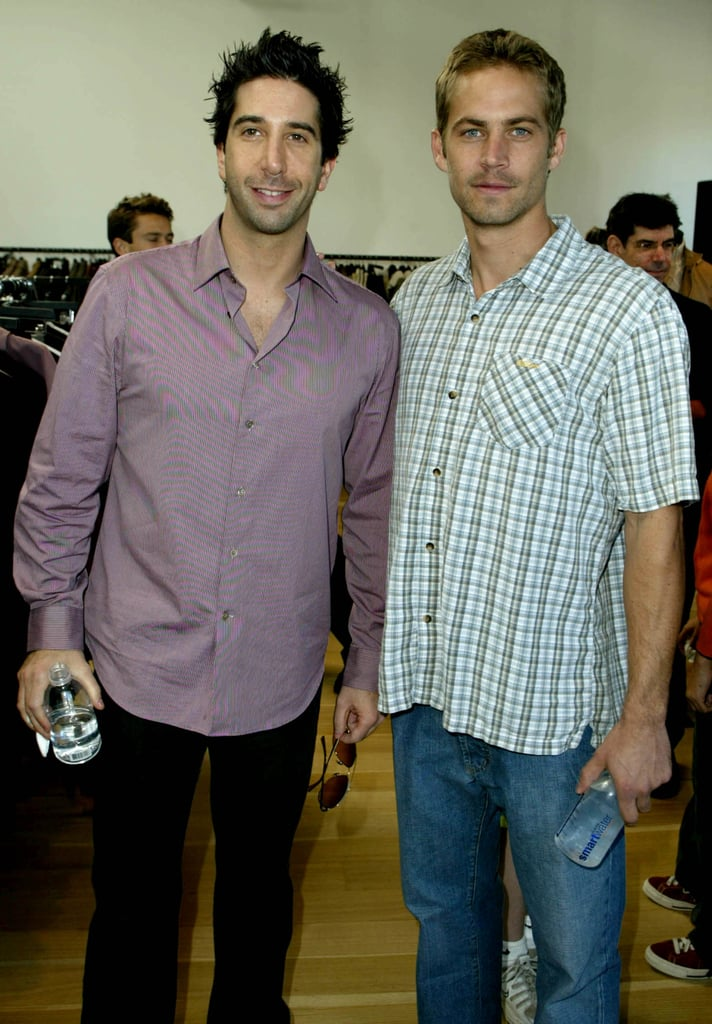 Paul Walker and David Schwimmer attended a charity shopping event in LA in November 2003.