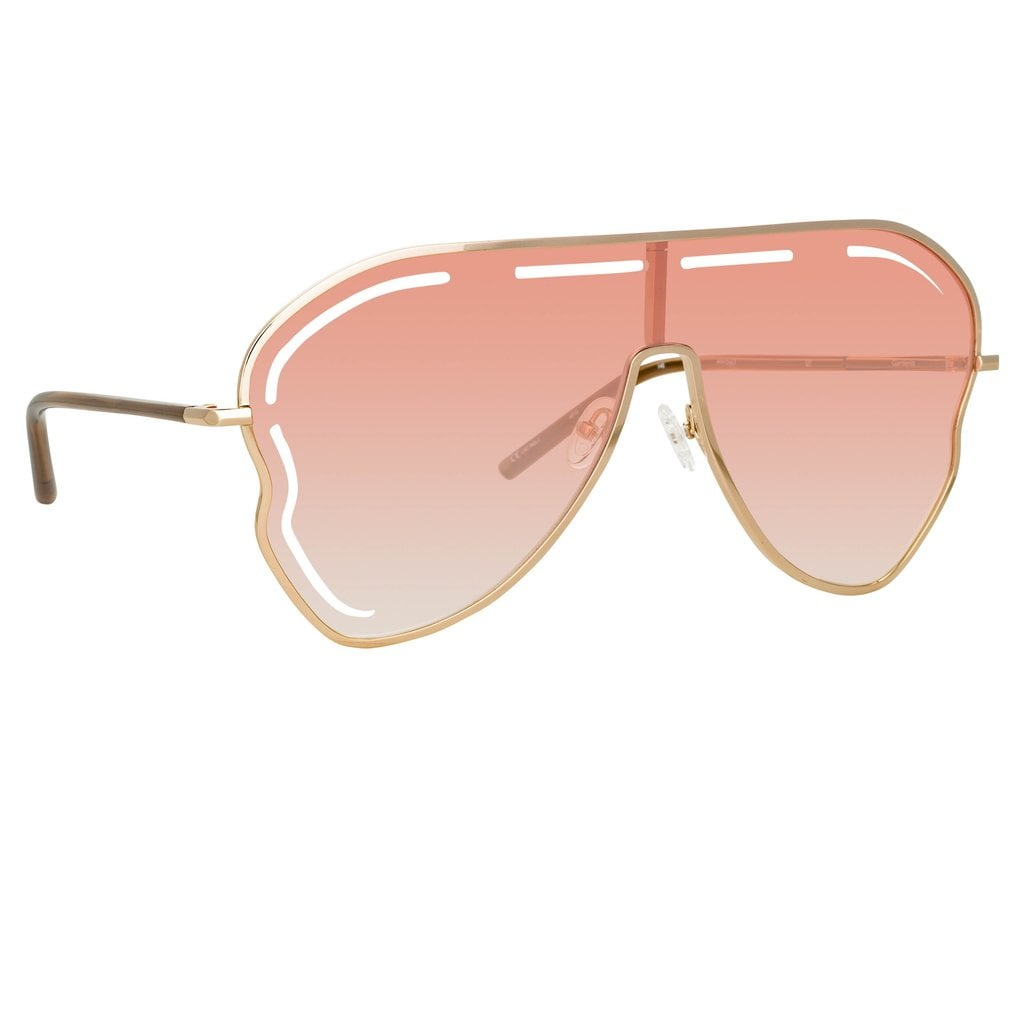 Matthew Williamson Gardenia Sunglasses in Light Gold