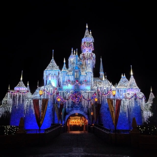 The Castle Lights At Night Are A Winter Dream.