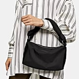 Topshop Black Knot Nylon Shoulder Bag