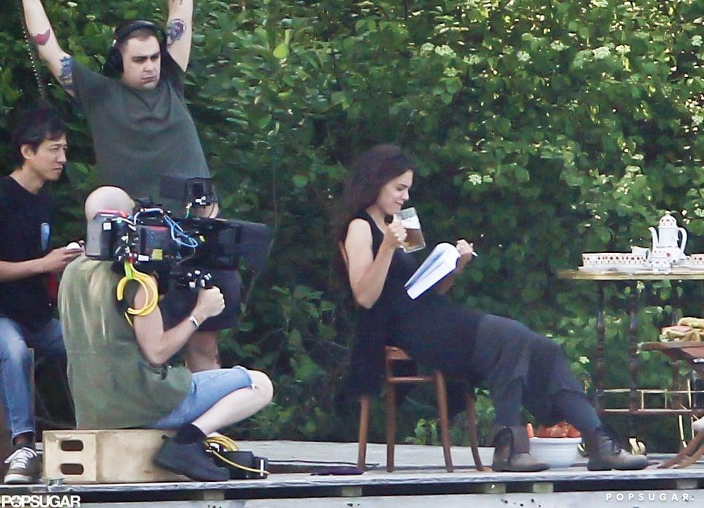 Katie Holmes was on set in Connecticut for her next project.