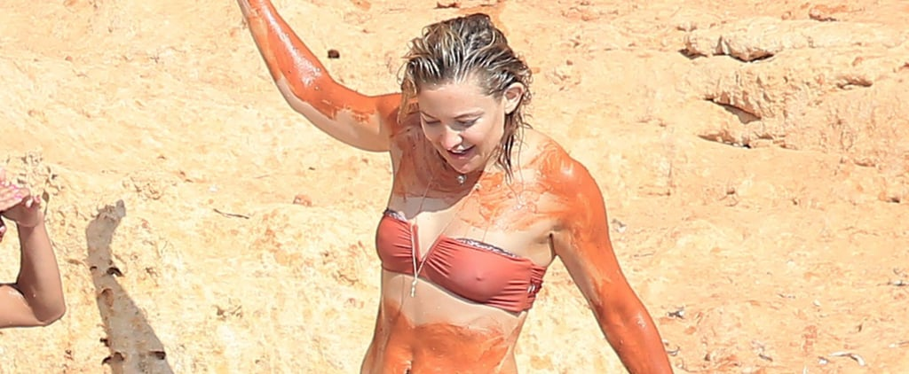 Kate Hudson Slathers Herself From Head to Toe in Mud During Her Trip to Spain