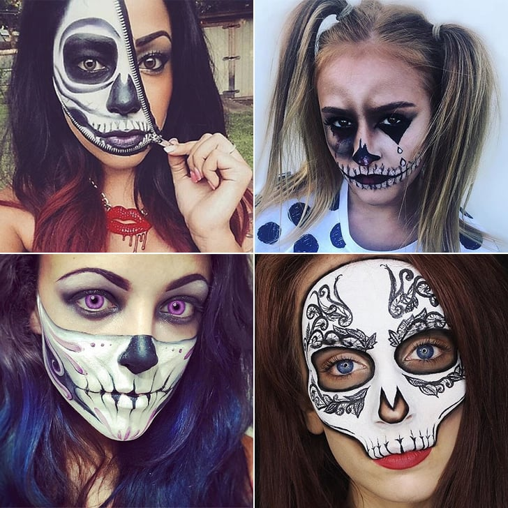 Sexy skeleton face paint