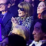 Anna Wintour in the Front Row at the Jean-Paul Gaultier Show