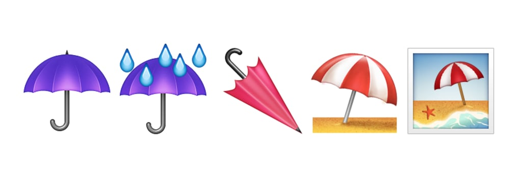 A variety of different umbrellas
